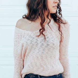 New Peach Anthropology Sweater